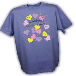 Personalized Heart Design Shirt for Grandma
