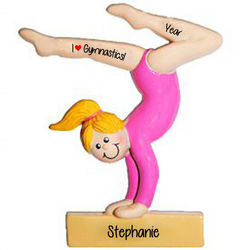 Personalized Gymnast Balance Beam Ornament