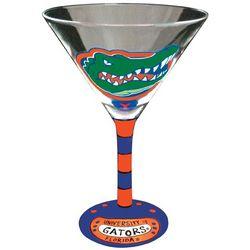 Florida Gator Head Handpainted Martini Glasses
