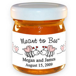 Meant to Bee Kissing Bee Honey Jar Party Favor