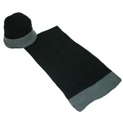 Men's Wool Reversible Hat and Scarf Set