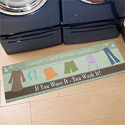 Personalized Laundry Room Mat