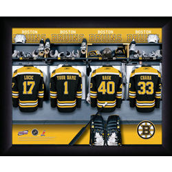 Personalized NHL Boston Bruins Locker Room Print