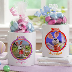 Personalized Peter Cottontail Easter Mug with Chocolate