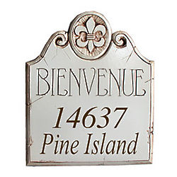 Personalized Bienvenue Address Plaque