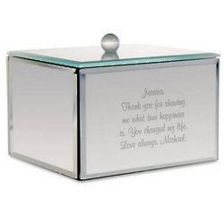 Personalized Mirror Trinket Box