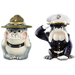 USMC Drill and Dress Devil Dogs Salt and Pepper Shakers