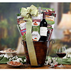 Mendocino Farms Red, Cheese and Chocolate Gift Basket