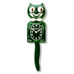 Kit Cat Clock in Hunter Green