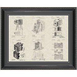 Framed Camera Patent Poster 20x24