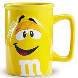 Yellow Personalized M&M Mug