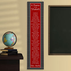 A Teacher's Promise Personalized Classroom Banner