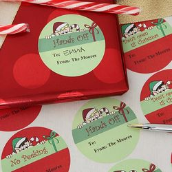 No Peeking Personalized Christmas Gift Stickers