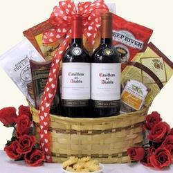 Chilean Romance Valentine's Day Wine Gift Basket