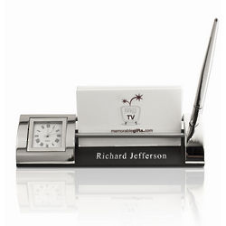 Personalized Trio Business Card Display