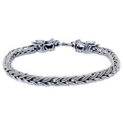 Men's Powerful Nagas Sterling Silver Bracelet