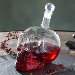 Glass Skull Potion Decanter