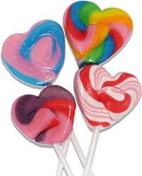 25 Swirled Heart Fancy Pops