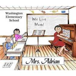 Music Teacher Friendly Folks Personalized Cartoon