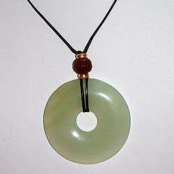Chinese Jade Bi Pendant