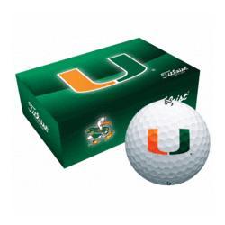 Personalized Miami Hurricanes Collegiate Golf Balls