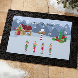 Personalized Christmas Character Welcome Door Mat