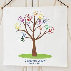 Baby Handprint Growth Tree Banner