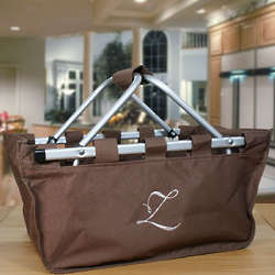 Embroidered Single Initial Picnic Tote