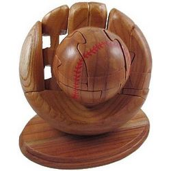 Baseball Glove Jigsaw Wooden Puzzle