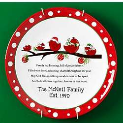 Personalized Family Blessings Christmas Plate