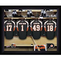 Personalized NHL Philadelphia Flyers Locker Room Print