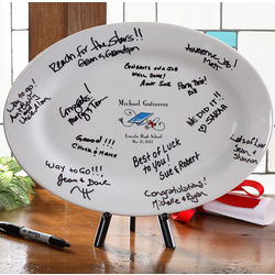 Personalized Graduation Signature Platter Keepsake