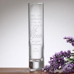 Personalized Teacher Appreciation Bloom & Grow Bud Vase