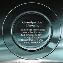 Grandpa's Personalized Keepsake Plate