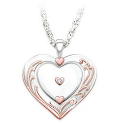 Granddaughter's Diamond Pendant with Spinning Heart
