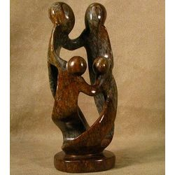 Loving Family of Four Sculpture