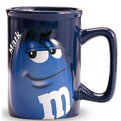 Personalized Blue M&M Mug