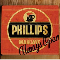Always Open Personalized Wood Tavern and Bar Sign