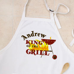 King of the Grill Personalized BBQ Grill Apron