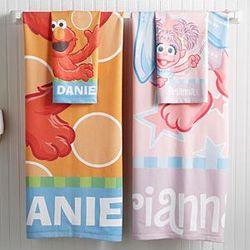 Sesame Street Bath Time Fun Personalized Microfiber Towel Set