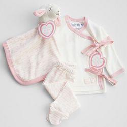 Girl's Organic New Baby Gift Set