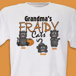 Fraidy Cats Personalized Halloween T-Shirt