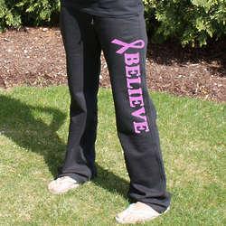 Pink Ribbon Cancer Awareness Sweatpants