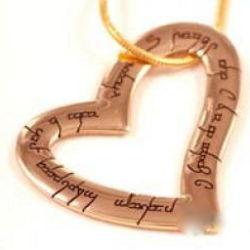 Elvish Bronze Heart Pendant