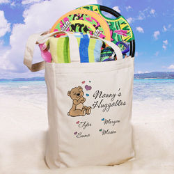 Huggables Personalized Canvas Tote Bag