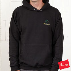 Shamrock Black Hooded Adult Sweatshirt