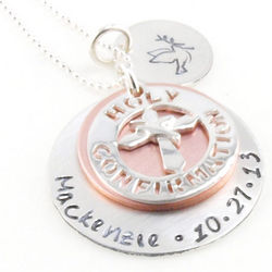 Holy Confirmation Personalized Hand-Stamped Necklace