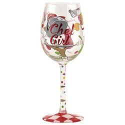 Chef Girl Wine Glass