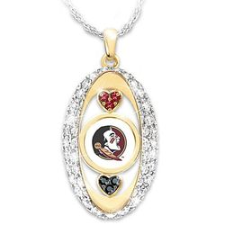 For The Love of the Game Florida State Seminoles Crystal Pendant