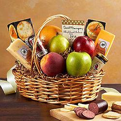 Large Fruit & Gourmet Treats Gift Basket